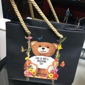 Black Moschino shopping bag